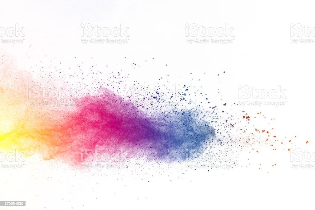 Explosion de poudre de couleur photo libre de droits