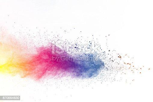 istock Explosion of color powder 870664630