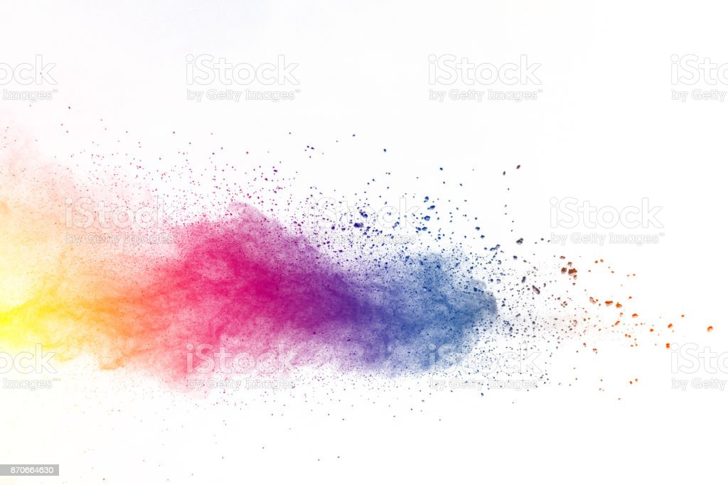 Explosão de pó de cor - foto de acervo