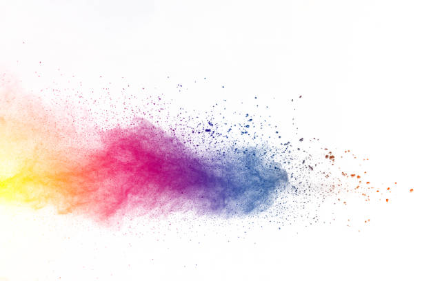 Explosion of color powder stock photo