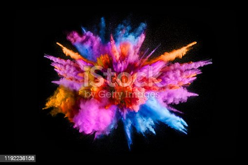 Explosioncolored powder