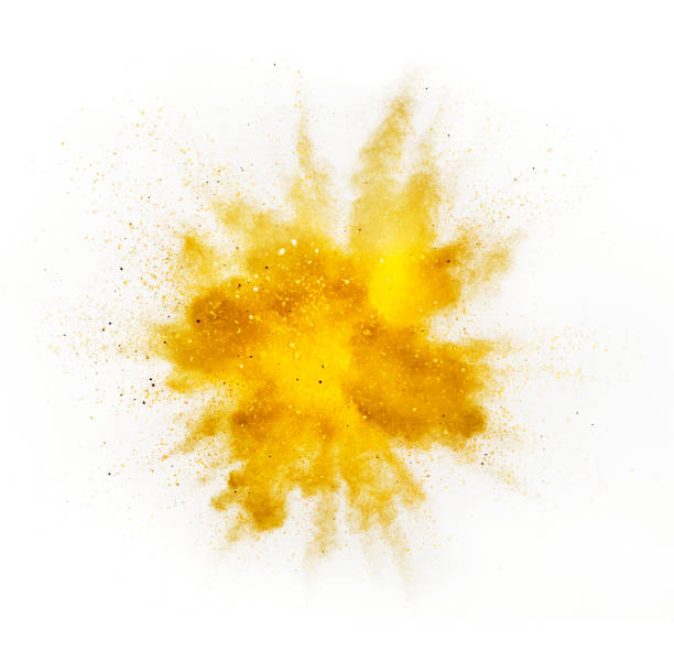 Explosion of colored powder on white background Explosion of colored powder isolated on white background. Abstract colored background exploding stock pictures, royalty-free photos & images
