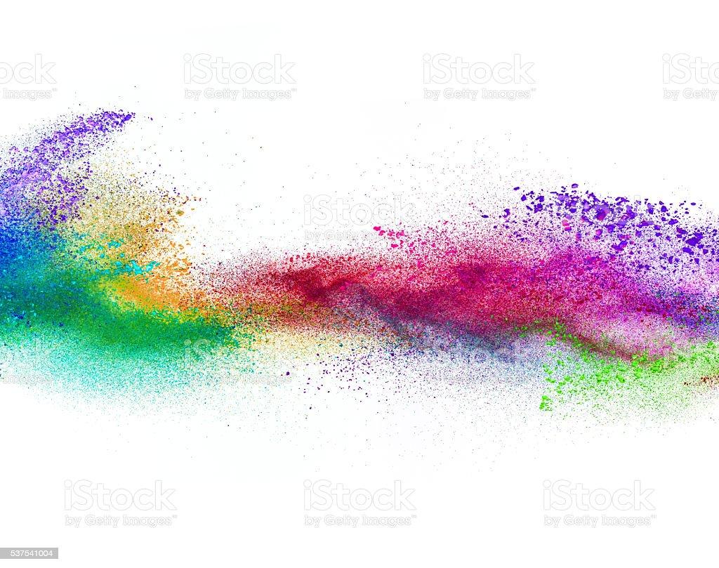 Favori Photo de Explosion De Couleurs Sur Fond Blanc Poudre - Image Libre  GM72