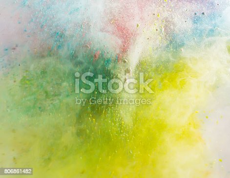 istock Explosion of colored powder 806861482