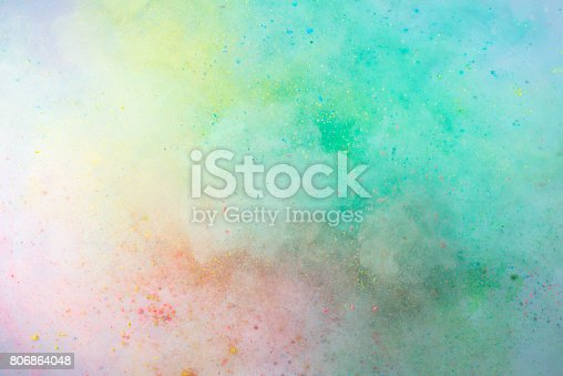 istock Explosion of colored powder 806864048