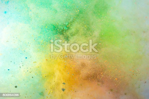 istock Explosion of colored powder 806864096
