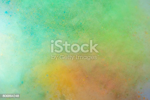 istock Explosion of colored powder 806864248