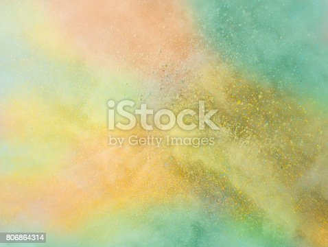 istock Explosion of colored powder 806864314