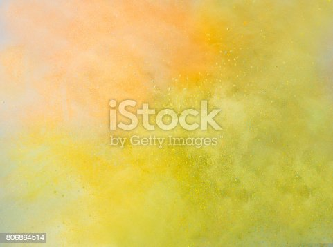 istock Explosion of colored powder 806864514