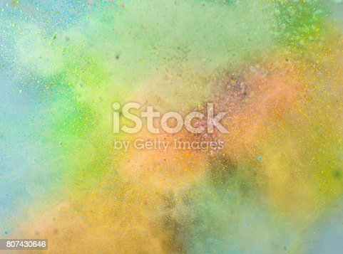 istock Explosion of colored powder 807430646