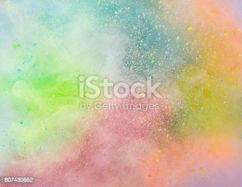istock Explosion of colored powder 807430652
