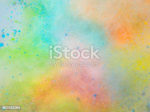 istock Explosion of colored powder 807433264