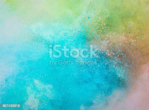 istock Explosion of colored powder 807433918