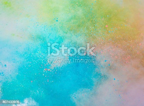 istock Explosion of colored powder 807433926
