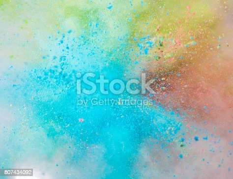 istock Explosion of colored powder 807434092