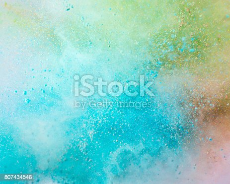 istock Explosion of colored powder 807434546