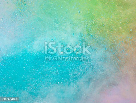 istock Explosion of colored powder 807434602