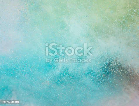 istock Explosion of colored powder 807434688
