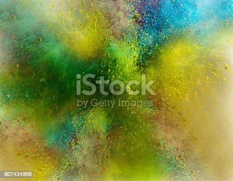 istock Explosion of colored powder 807434956