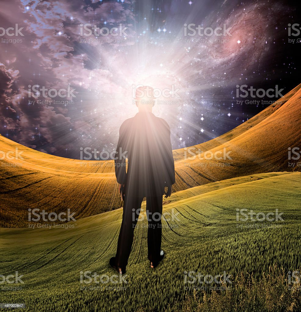 Explosion of imagination stock photo