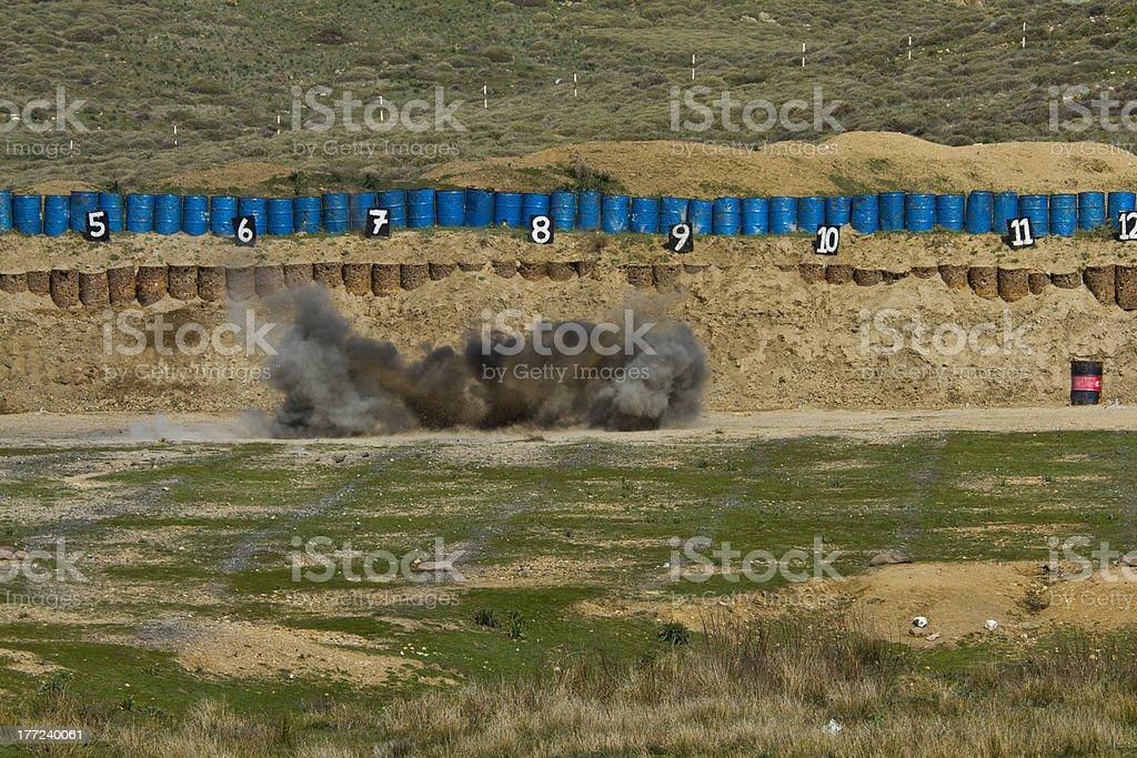 Explosion of rpg-7 ammunition. royalty-free stock photo