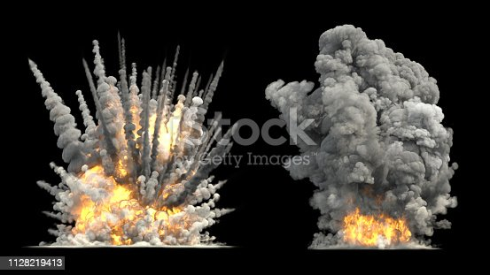 big explosion on ground