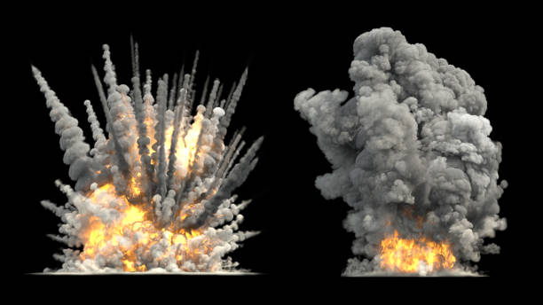 Explosion on ground big explosion on ground exploding stock pictures, royalty-free photos & images