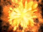 """""""A 3D rendered explosion in high resolution, made with Hypervoxels in Lightwave 8. Took about two days to render!"""""""