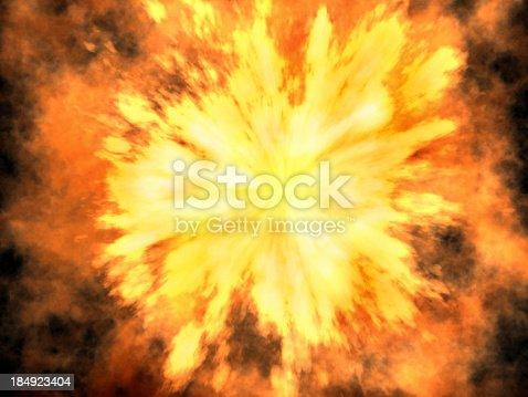 istock 3D explosion 184923404