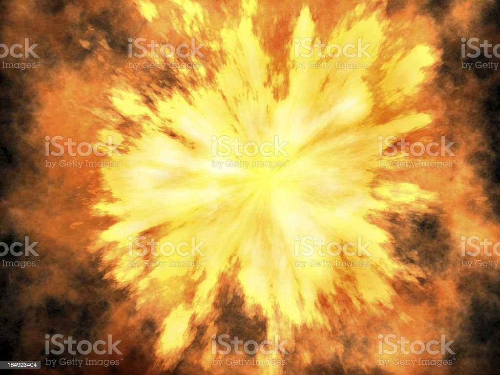 3D explosion stock photo