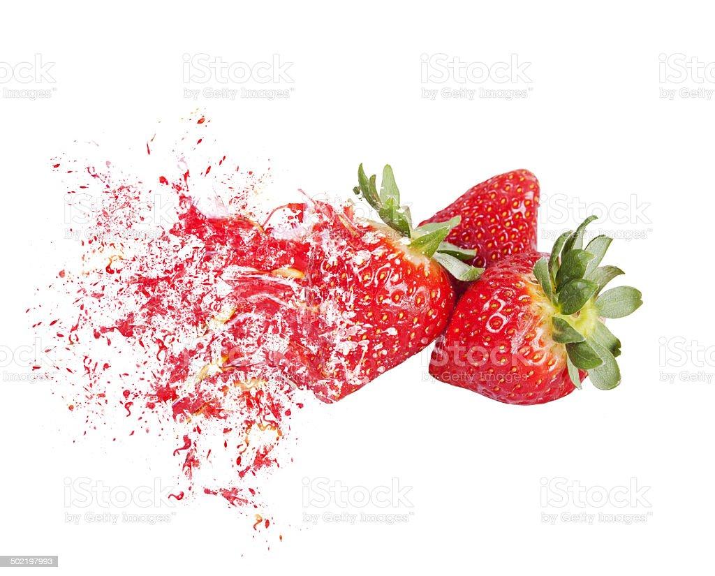 explosion Erdbeeren – Foto