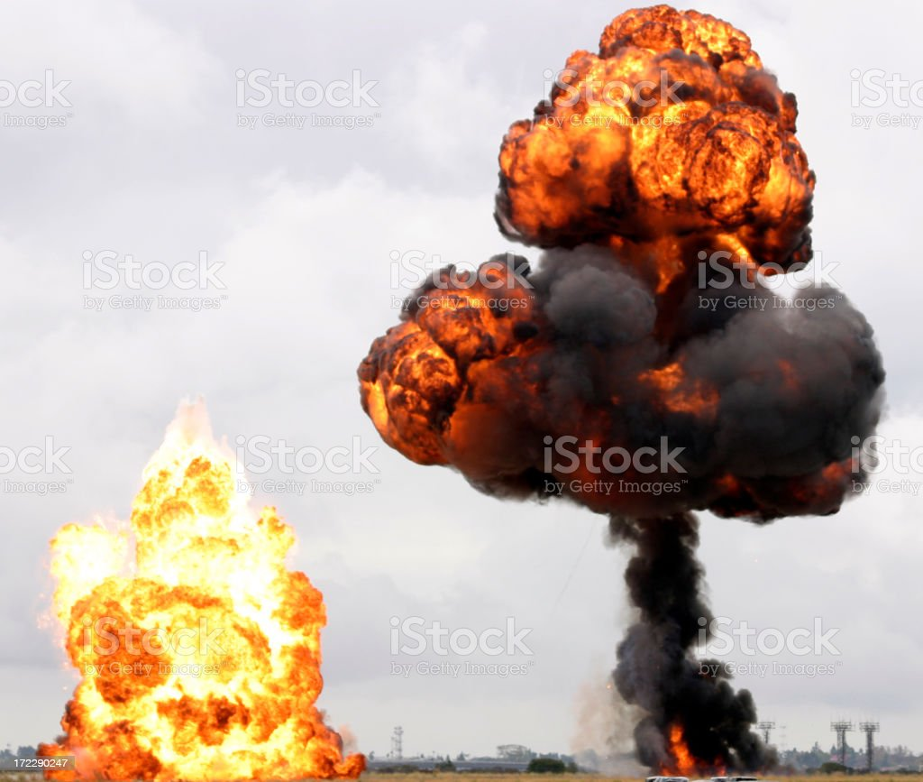 Explosions royalty-free stock photo