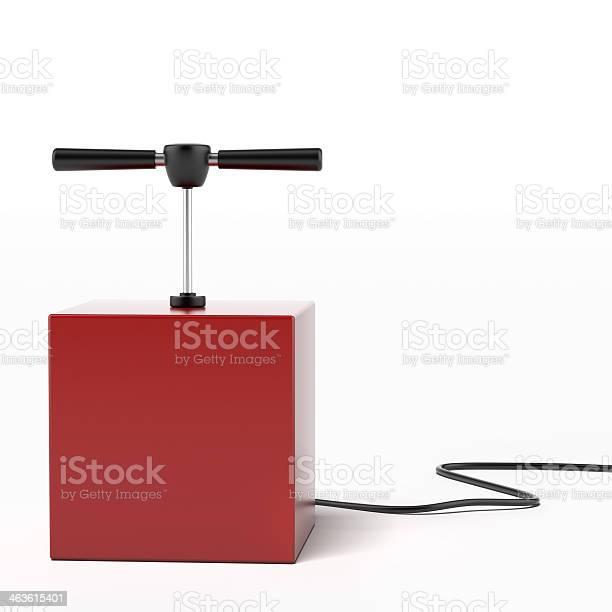 explosive detonator isolated on a white background. 3d render