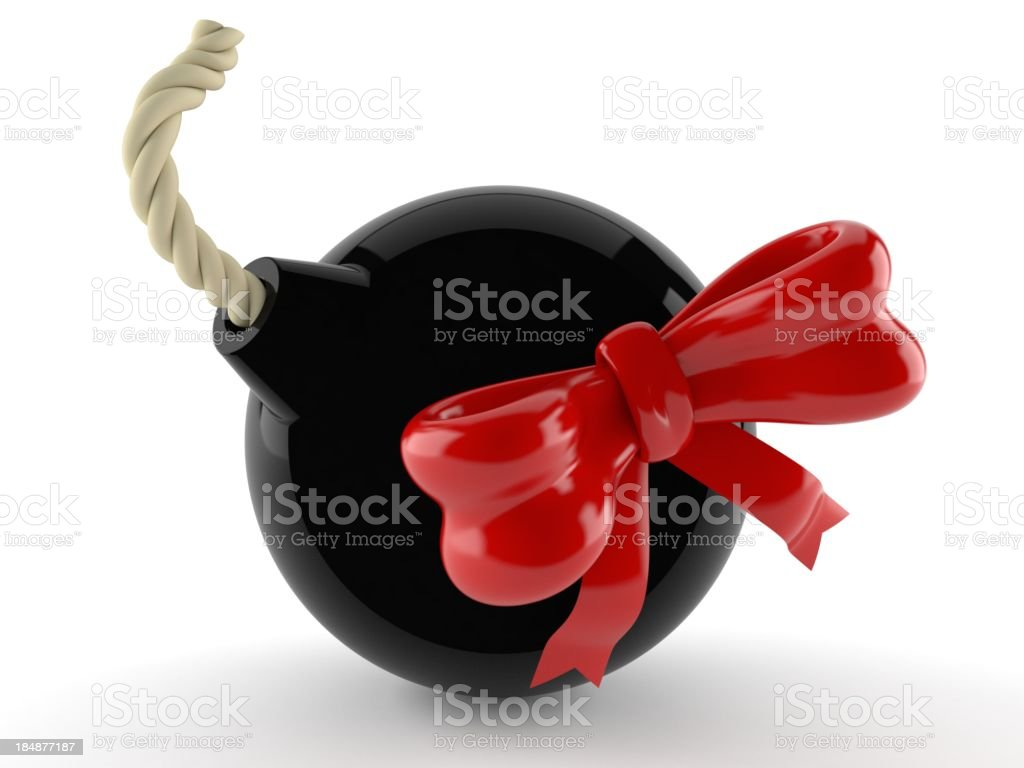 Explosive gift royalty-free stock photo