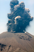 Explosive volcano eruption