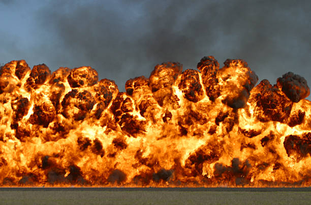 Explosive wall of fire and smoke