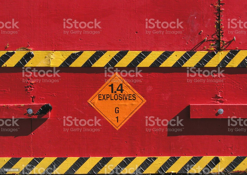 Explosives Sign stock photo