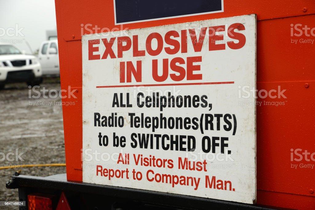 explosives signage royalty-free stock photo