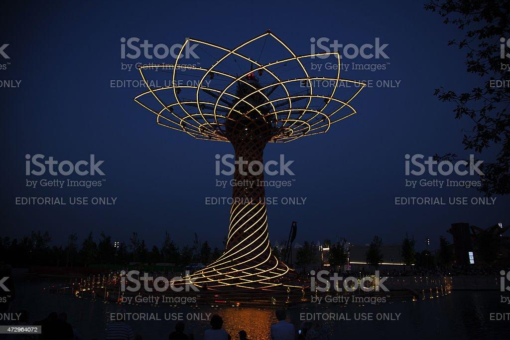 Expo 2015. Albero della vita - The tree of life stock photo