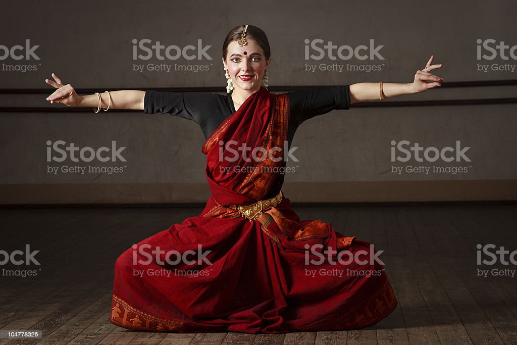 Exponent of  Bharat Natyam dance stock photo