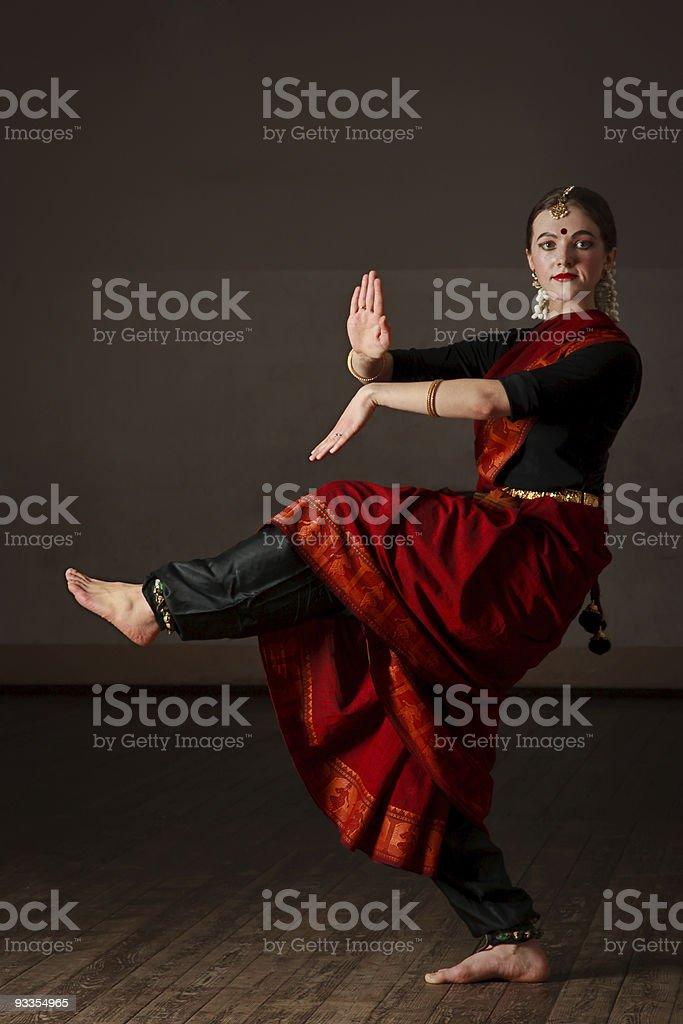 Exponent of  Bharat Natyam dance stock photo