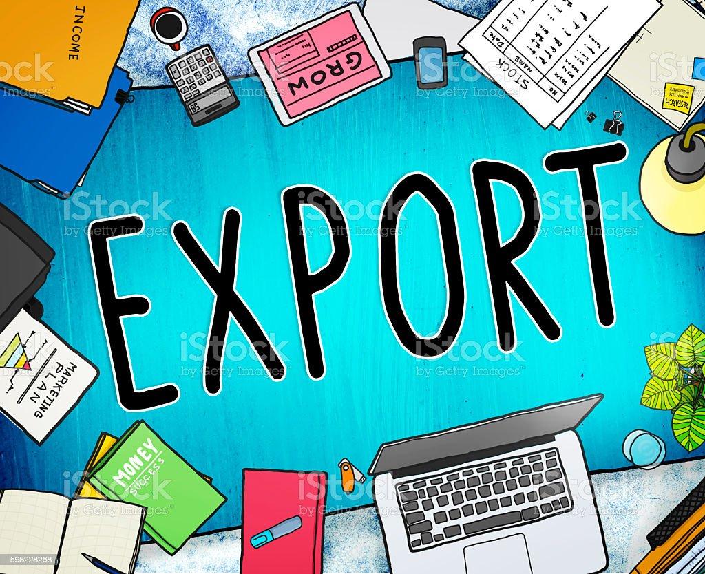 Exportar importar a logística, o transporte de mercadorias conceito foto royalty-free