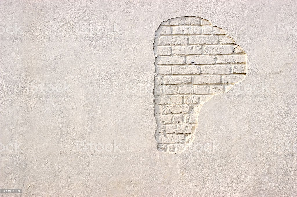 Exposed Brick royalty-free stock photo