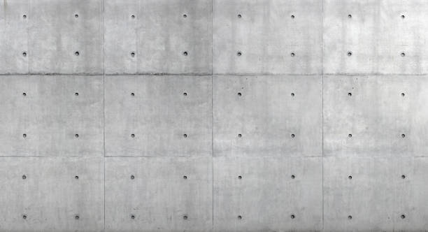 sichtbetonwand nicht verputzt oder verblendet - ansichtsflächen - gestalterische funktionen - betonwerkstein stock-fotos und bilder