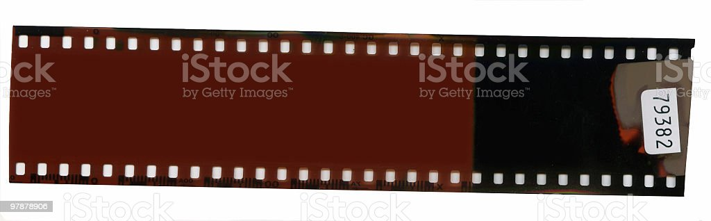 exposed film royalty-free stock photo