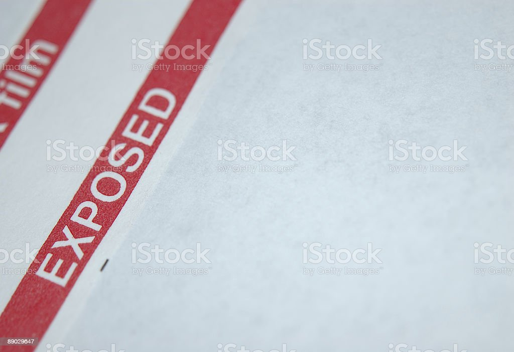 Exposed royalty-free stock photo