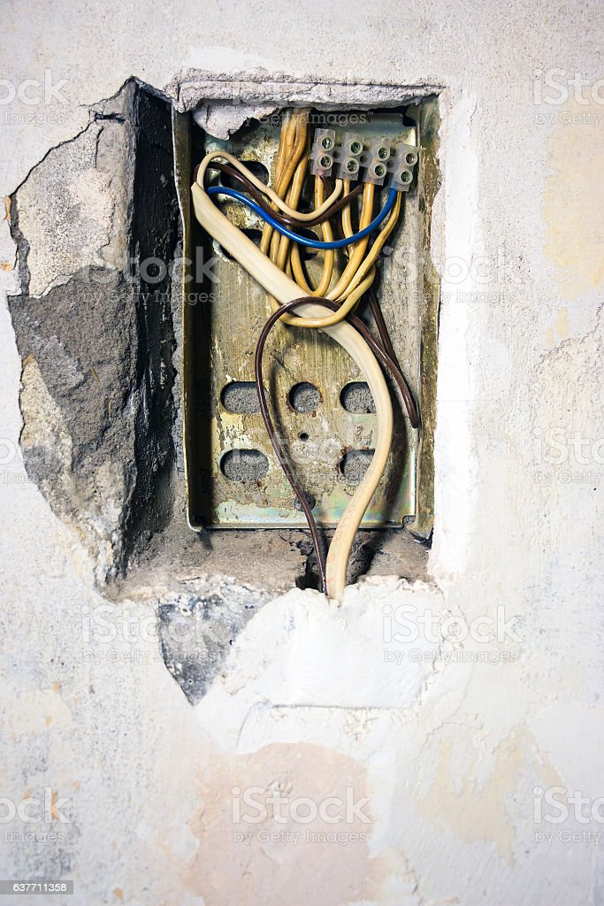 Terrific Exposed Wire In The Electrical Wiring Stock Photo More Pictures Of Wiring Cloud Hisonuggs Outletorg