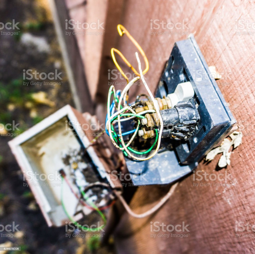 Exposed Wires Color stock photo