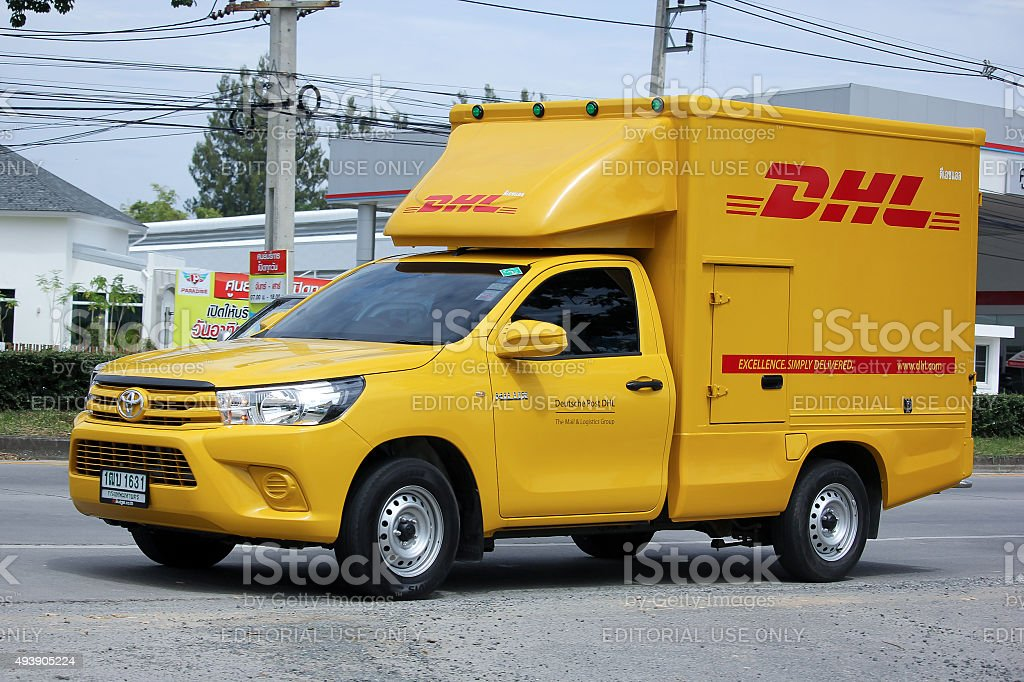 Dhl Pickup Locations >> Dhl Express And Logistics Container Pickup Truck Stock Photo