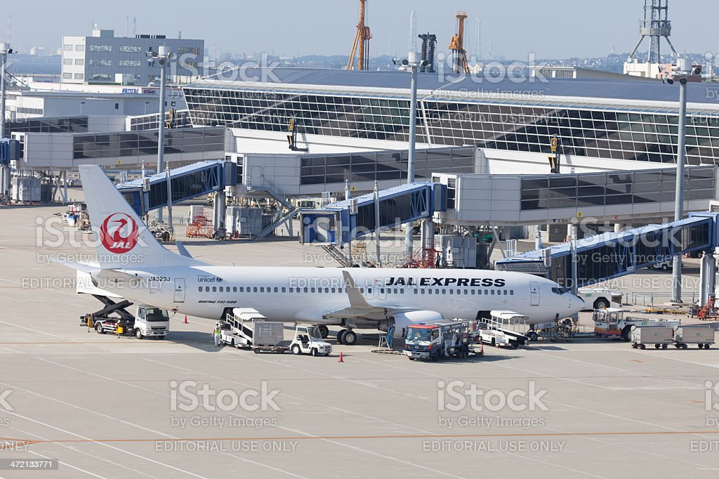 JAL Express Boeing 737-800 stock photo